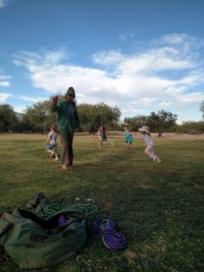 labyrinth with children